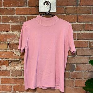 Sweaters - Bubblegum Pink Mock-Neck Knit Top